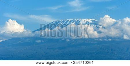 Beautiful View Of The Majestic Mount Kilimanjaro Seen From Amboseli National Park, Kenya.