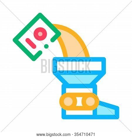 Adding Ingredient Icon Vector. Outline Adding Ingredient Sign. Color Isolated Contour Symbol Illustr