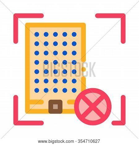 House Demolish Icon Vector. Outline House Demolish Sign. Color Isolated Contour Symbol Illustration