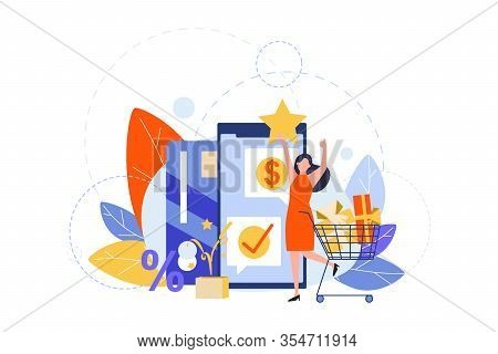 Online Shopping, Sale, Payment, Checkout Concept. Commercial Checkout, Online Payment, Verification,
