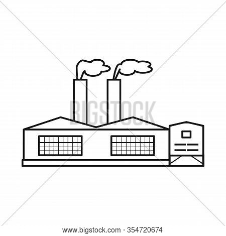 Isolated Object Of Manufactory And Fuel Icon. Set Of Manufactory And Oil Stock Vector Illustration.