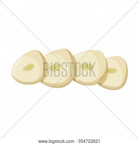 Chopped Garlic Vector Icon.cartoon Vector Icon Isolated On White Background Garlic Chopped .