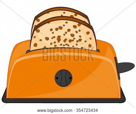 Tools For Kitchen Toaster On White Background Is Insulated