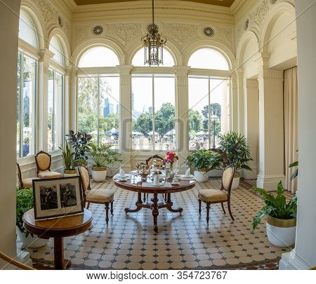 Melbourne, Australia - January 26, 2020: Government House Conservatory Room. It Is An Extension Of T