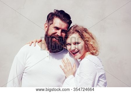 Romantic Portrait Of A Sensual Couple In Love. Naughty And Passionate. Sensual Kiss. Sensual Relatio