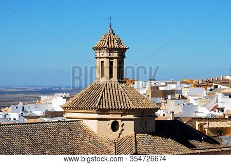 Elevated View Of Mercy Church (iglesia De La Merced) And Town Buildings, Osuna, Seville Province, An