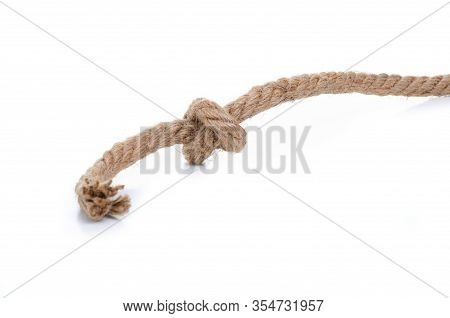 Rope Knot String Strength Connection On A White Background Isolation