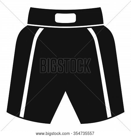 Boxing Shorts Icon. Simple Illustration Of Boxing Shorts Vector Icon For Web Design Isolated On Whit