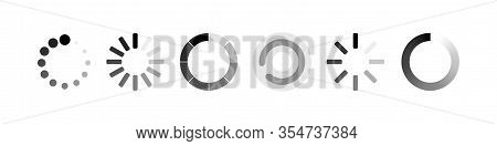 Loading Symbol Collection. Load Web Icons, Isolated On White Background. Loading Icon. Load Bar Icon