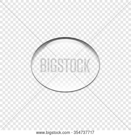 Realistic Transparent Water Drop, Isolated. Clear Water Drop On Transparent Background. Drop Water W