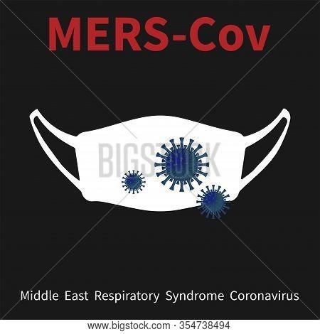 Coronavirus In China. New Coronavirus (2019-ncov), White Medical Face Mask With Coronavirus On A Bla