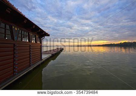 Sunset At Lake Palic,near Serbian Town Of Subotica, Vojvodina Region Of Serbia