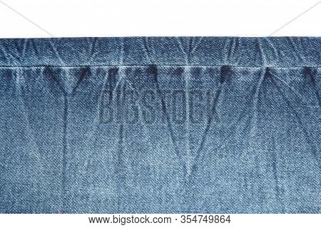 Blue Jeans Fabric. Denim Jeans Texture Or Denim Jeans Background. Denim Jeans For Fashion Design.