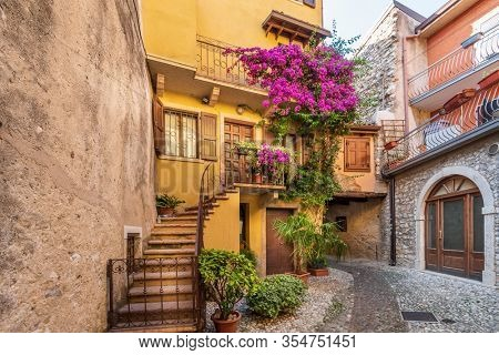 A nice entrance of a house in Malcesine, Italy.