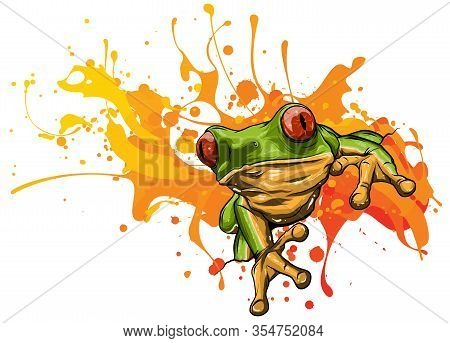 Little Frog. Vector Illustration Of A Cute Little Frog.