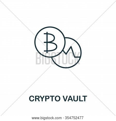 Crypto Vault Icon From Cyber Security Collection. Simple Line Crypto Vault Icon For Templates, Web D