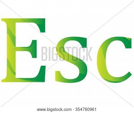 Cape Verde Escudo Currency Symbol Icon Vector Illustration On A White Background