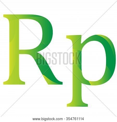 Indonesian Rupiah Currency Symbol Of Indonesia Icon Vector Illustration On A White Background