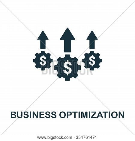 Business Optimization Icon. Simple Element From Business Disruption Collection. Filled Business Opti