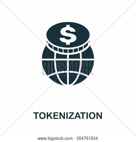 Tokenization Icon. Simple Element From Business Disruption Collection. Filled Tokenization Icon For