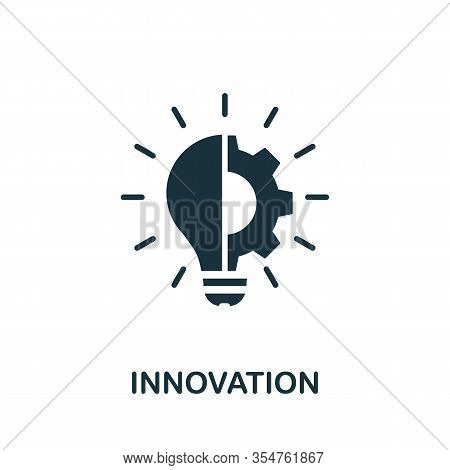 Innovation Icon. Simple Element From Digital Disruption Collection. Filled Innovation Icon For Templ
