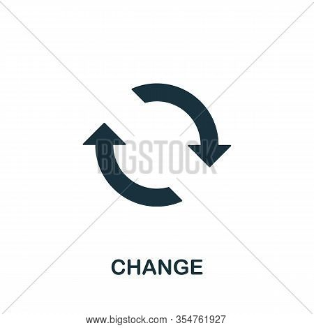 Change Icon. Simple Element From Digital Disruption Collection. Filled Change Icon For Templates, In