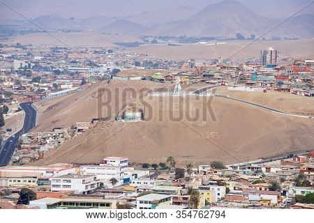 Arica, Chile - October 20, 2013: View To The City From El Morro Hill In Arica, Chile.