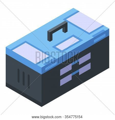 Tool Box Icon. Isometric Of Tool Box Vector Icon For Web Design Isolated On White Background