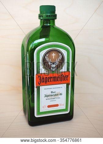 Wolfenbuettel - Mar 2020: Jaegermeister Bottle