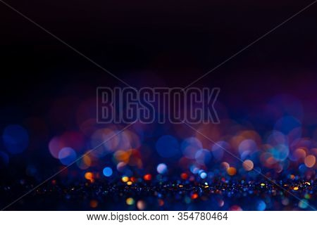 Festive Bokeh Glitters Background, Abstract Blurred Backdrop With Circles, Modern Design Wallpaper W