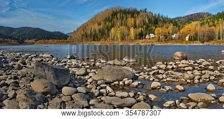 Russia. South Of Western Siberia, Kuznetsk Alatau. The Upper Reaches Of The Tom River Near The City