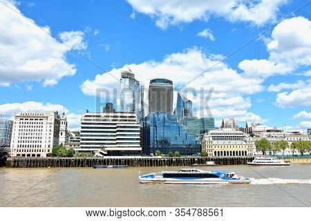 Cityscape Of London, Uk With Modern Buildings