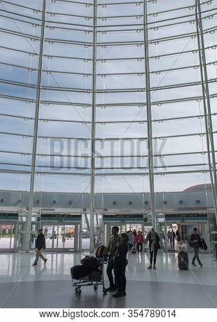Lisbon, Portugal - Feb The 6th, 2020: International Lisbon Airport Humberto Delgado, Lisbon, Portuga