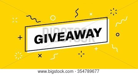 Giveaway Banner. Post Template. Win A Prize Giveaway. Social Media Poster. Vector Design Illustratio