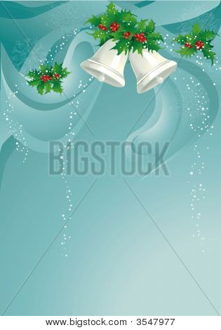 Christmas Background With Bells