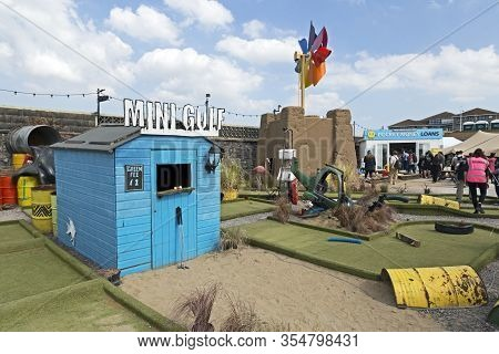 Weston-super-mare, Uk - September 10, 2015: Dismaland, An Exhibition Curated By Banksy At The Tropic