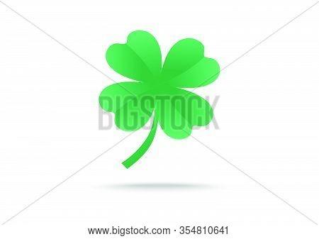 Green Shamrock Leaf With Concept Vector Background. You Can Use Shamrock Leaf To Design Banner Websi