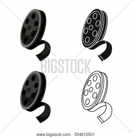 Isolated Object Of Reel And Movie Sign. Web Element Of Reel And Film Vector Icon For Stock.