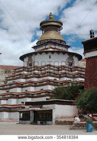Tibetan Monastery In The City Of Shigatse