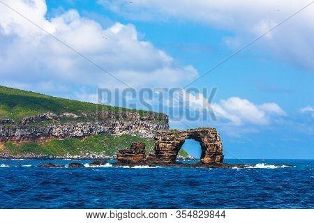 Famous Darwins Arch In Galapagos In Ecuador