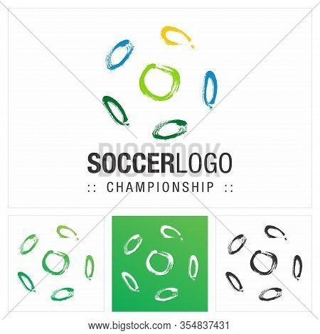 Soccer Ball Vector Symbol Championship (company) Logo. Dynamic Color Gradient Style Logotype. Ball,