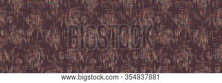 Woven Criss Cross Texture Seamless Border Pattern. Vector Dark Linen Worn Textile Banner Background.