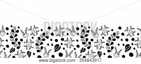 Black Lace Border-love In Parise Seamless Repeat Pattern Background. Abstract Pattern Of Modern Blac