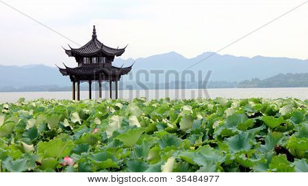 West Lake in Hangzhou in China