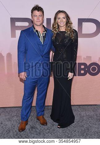 LOS ANGELES - MAR 05:  Luke Hemsworth and Samantha Hemsworth arrives for ÔWestworldÕ Season 3 Premiere on March 05, 2020 in Hollywood, CA