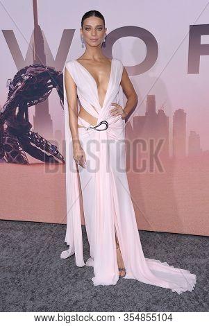LOS ANGELES - MAR 05:  Angela Sarafyan arrives for 'Westworld' Season 3 Premiere on March 05, 2020 in Hollywood, CA