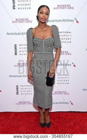 LOS ANGELES - MAR 08:  Yaya DaCosta arrives for the 8th Annual Women Making History Awards on March 08, 2020 in Los Angeles, CA