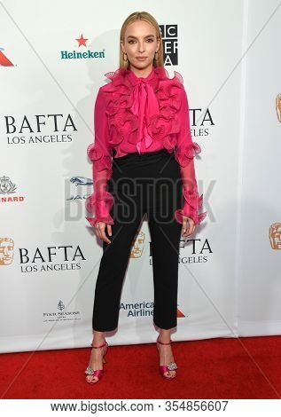 LOS ANGELES - JAN 04:  Jodie Comer arrives for the The BAFTA Los Angeles Tea Party 2020 on January 04, 2020 in Los Angeles, CA
