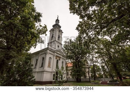 Serbian Orthodox Church Of Alibunar, A 19th Century Old Austro Hungarian Style Church, With Its Typi