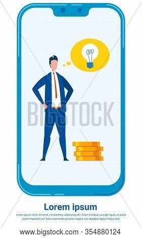 Investment Expert Flat Vector Poster Template. Cartoon Man, Confident Businessman, Financial Analyst